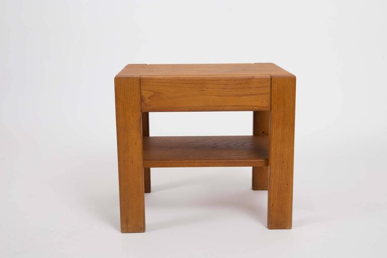 Wooden Side Table by Pierre Chapo 2