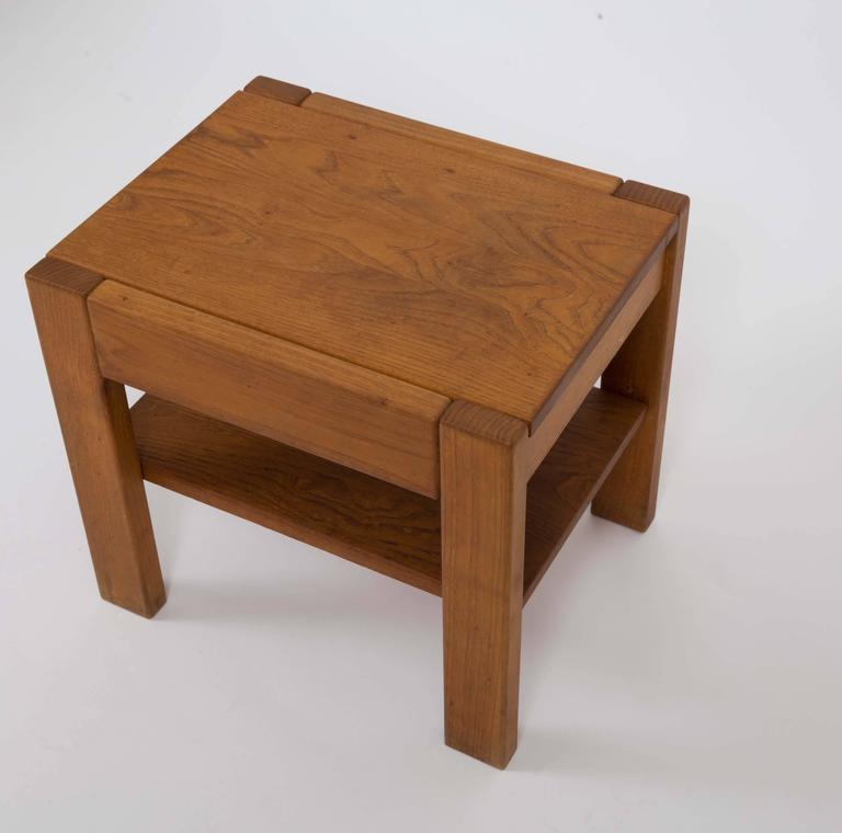 Wooden Side Table by Pierre Chapo 3