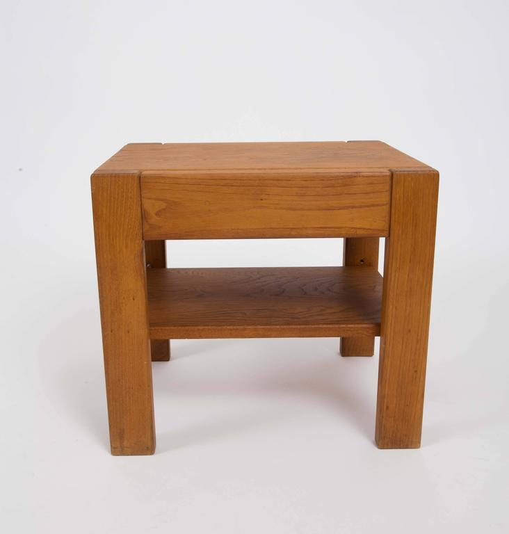 Wooden Side Table by Pierre Chapo 4