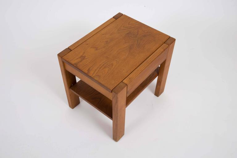 Wooden Side Table by Pierre Chapo 7