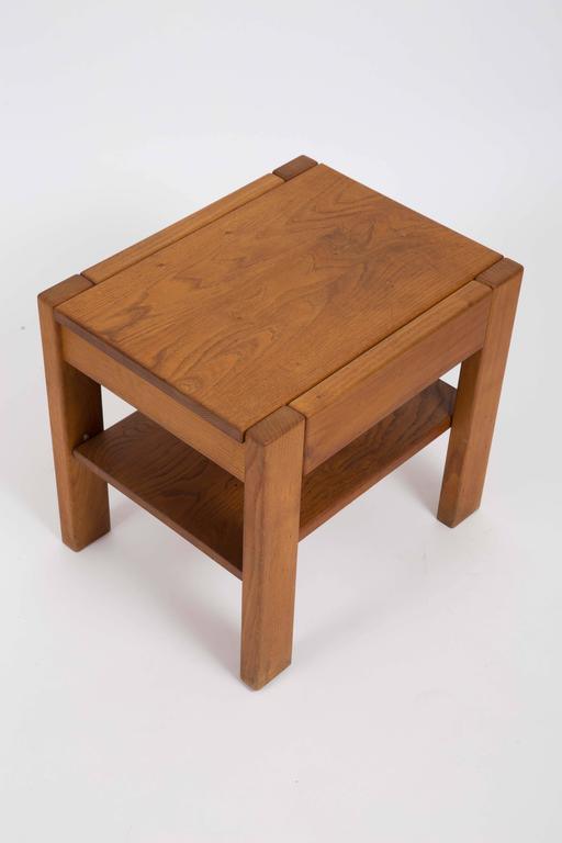 Wooden Side Table by Pierre Chapo 8