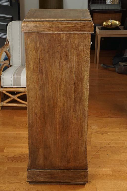 American Custom Oak Pedestal For Sale