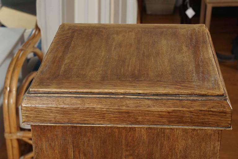 Beveled Custom Oak Pedestal For Sale