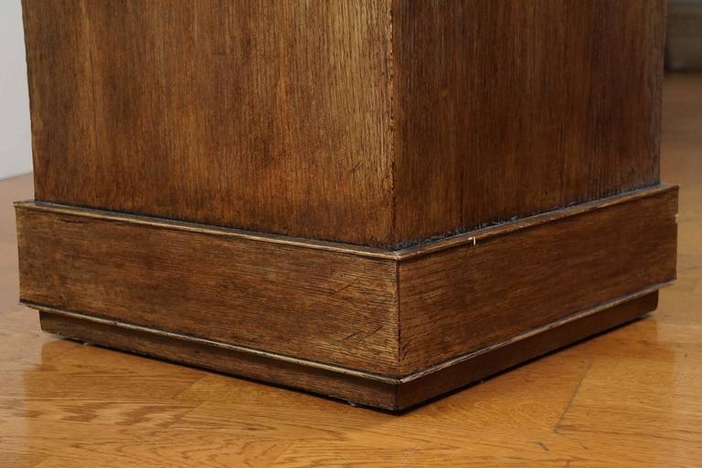 Custom Oak Pedestal In Good Condition For Sale In Hudson, NY