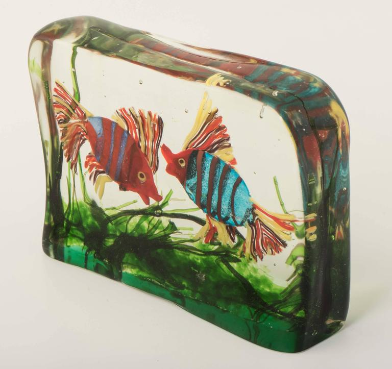 large murano glass aquarium by gino cenedese at 1stdibs. Black Bedroom Furniture Sets. Home Design Ideas