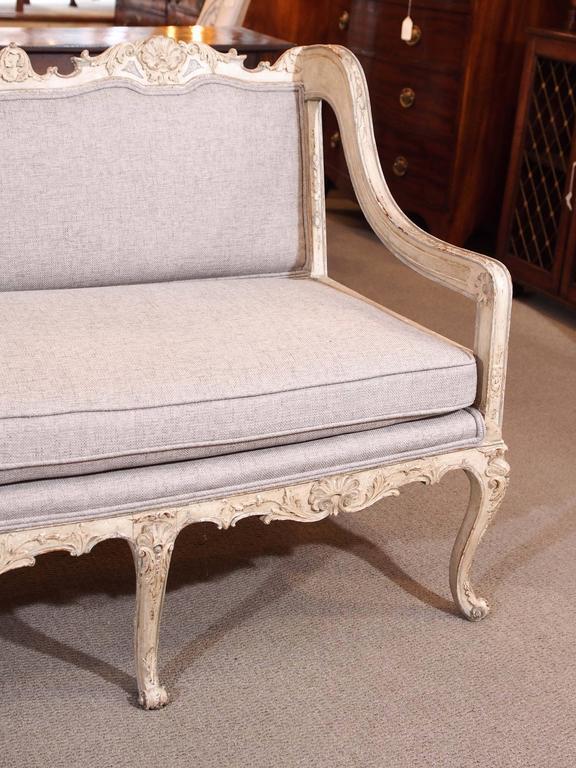 Rococo Antique French rococo grissaile Sofa For Sale