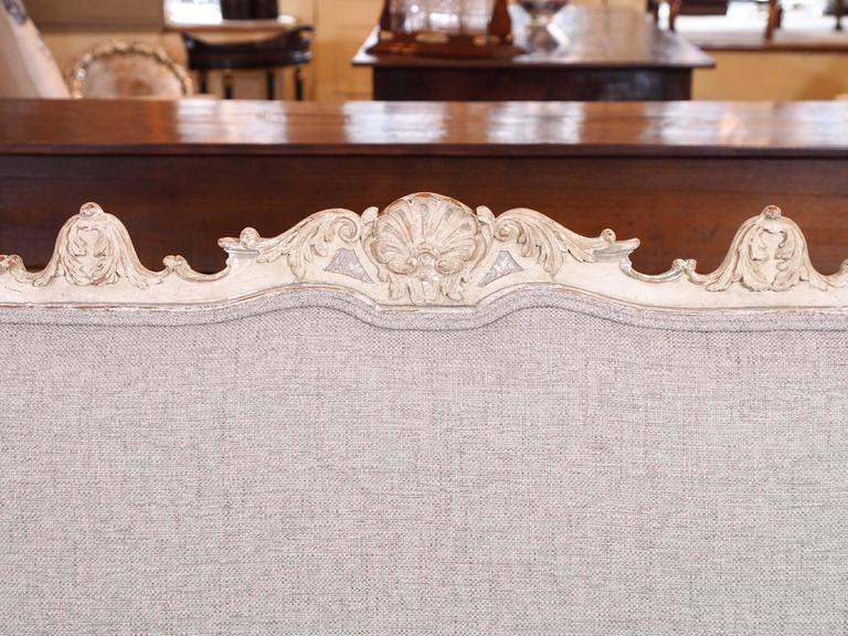 Antique French rococo grissaile Sofa In Good Condition For Sale In New Orleans, LA