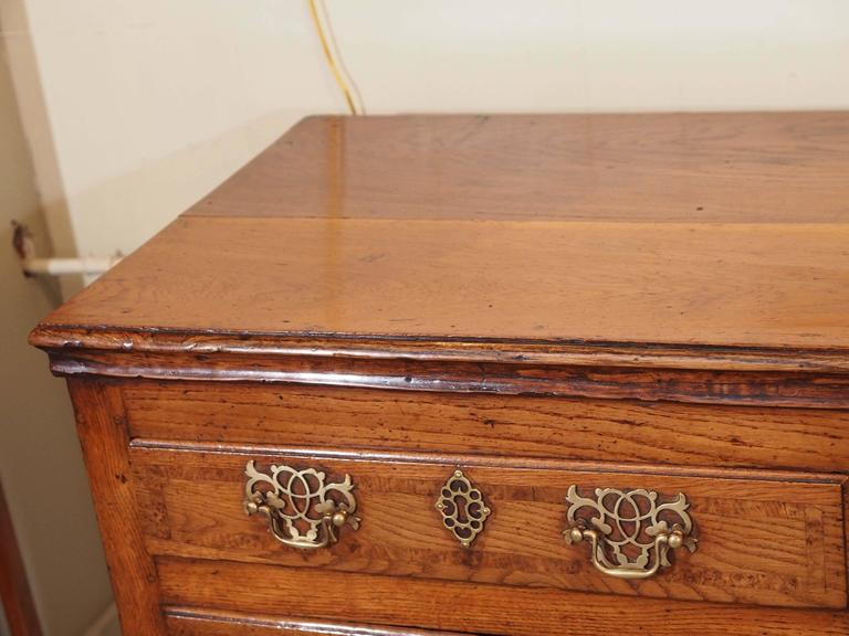 George III Antique English Dresser Base For Sale