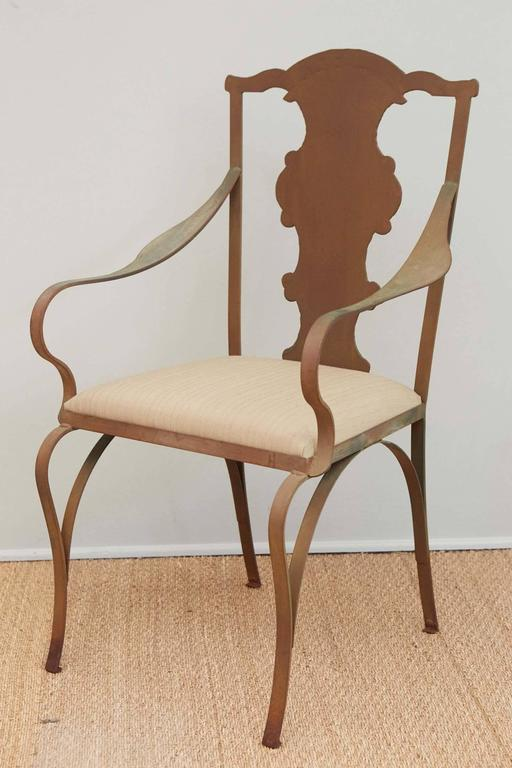Faux Queen Anne Metal Garden Chairs For Sale At 1stdibs