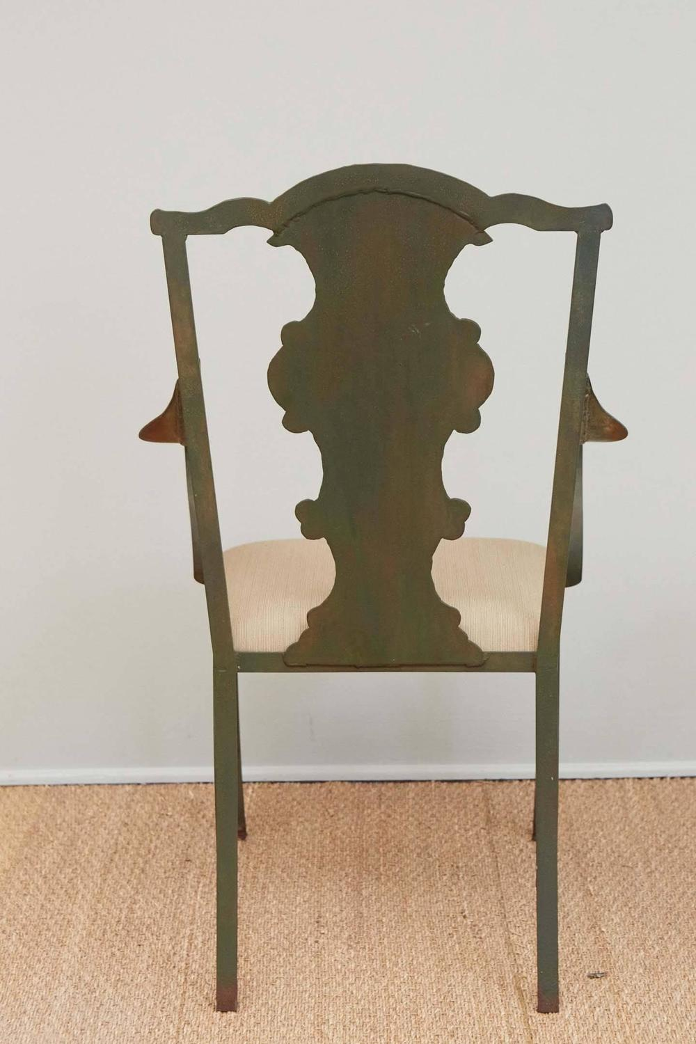 faux metal garden chairs for sale at 1stdibs