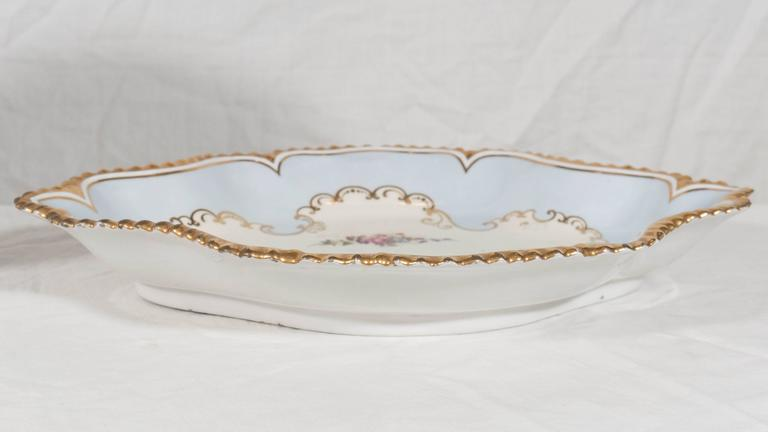 Early 19th Century Pair Antique Worcester Porcelain Dishes Made in England circa 1820 For Sale