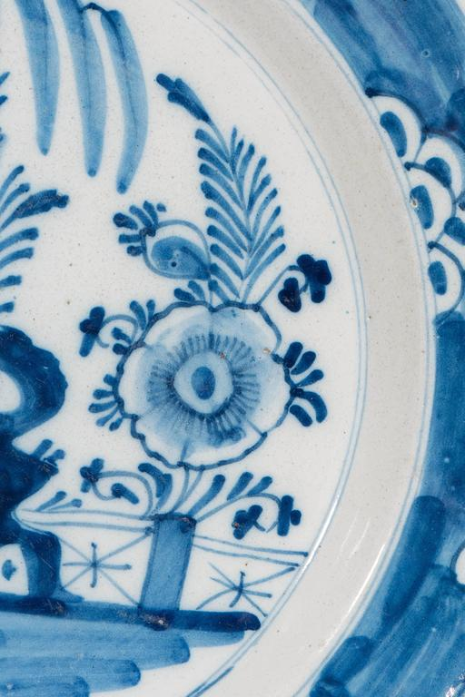 18th Century Antique Delft  Blue and White Chargers circa 1770 For Sale