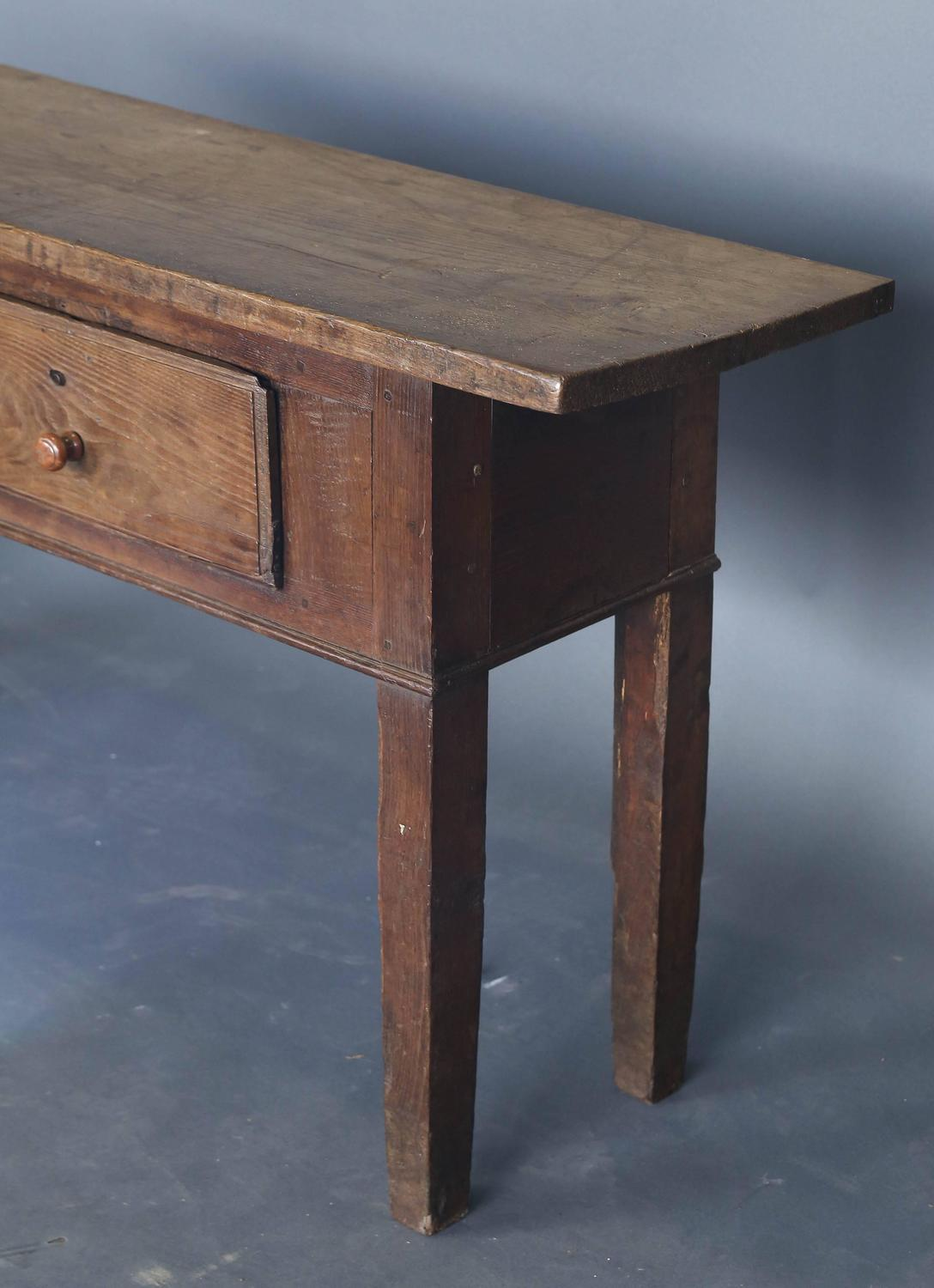 Narrow 19th century console table for sale at 1stdibs for Very long narrow console table