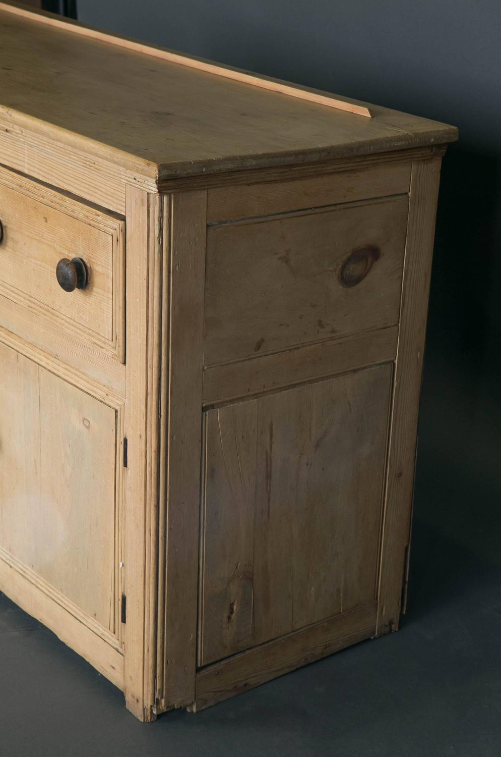 19th Century Washed Pine Welsh Dresser With Plate Rack For