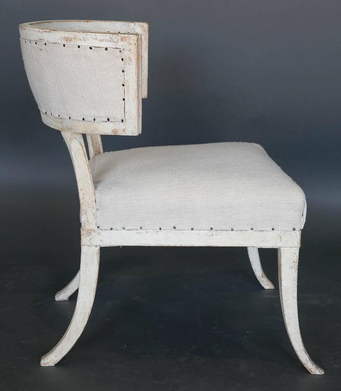 18th Century and Earlier Antique 18th Century Large Gustavian Klismos Chair For Sale