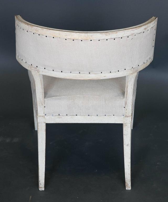 Wood Antique 18th Century Large Gustavian Klismos Chair For Sale