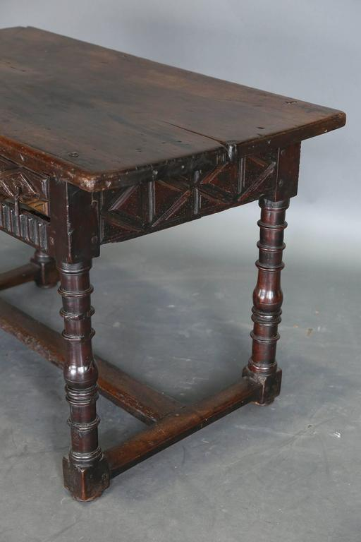 Antique 18th Century Spanish Console Table 6