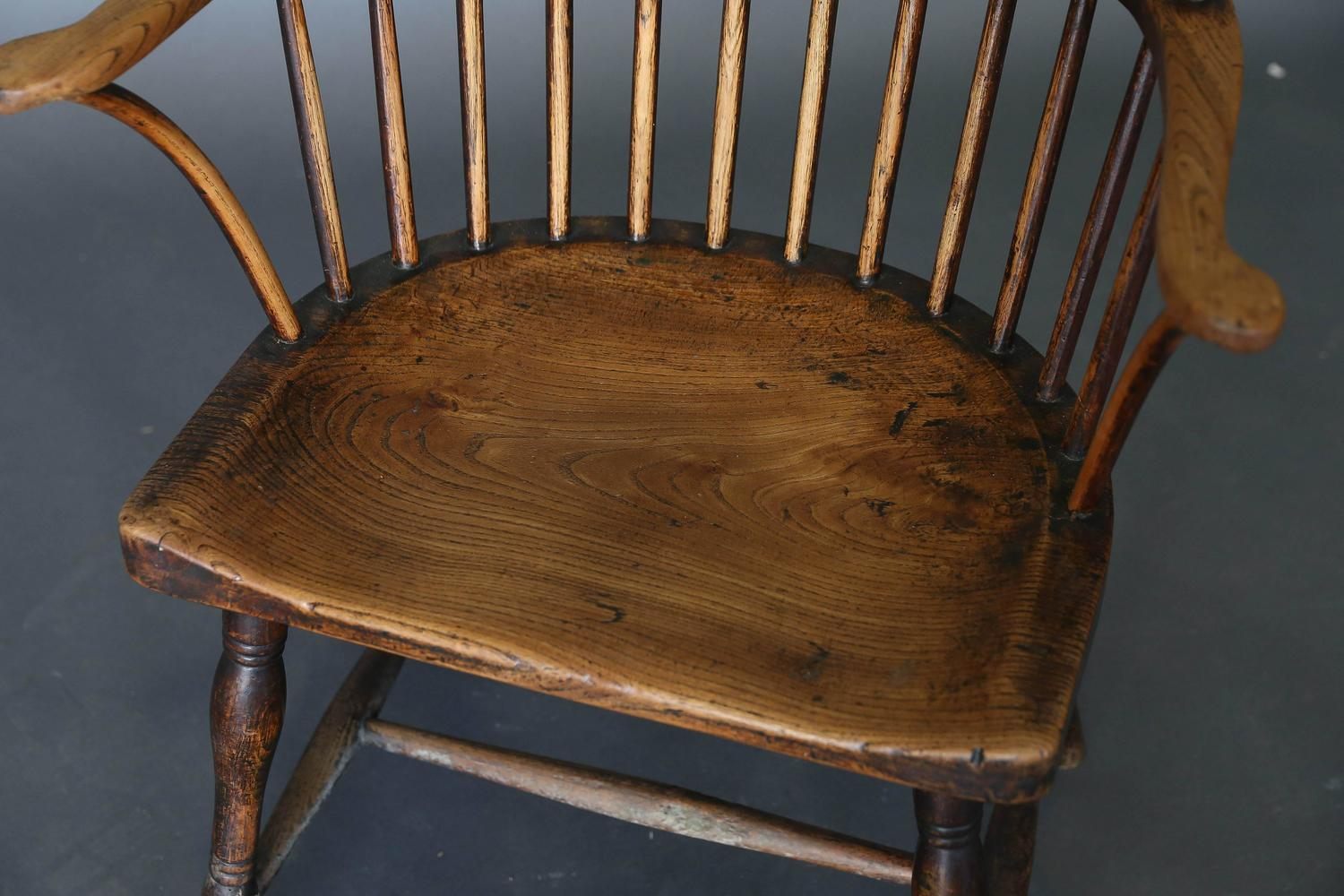 Antique 18th Century Ash And Elm Windsor Chair For Sale At 1stdibs