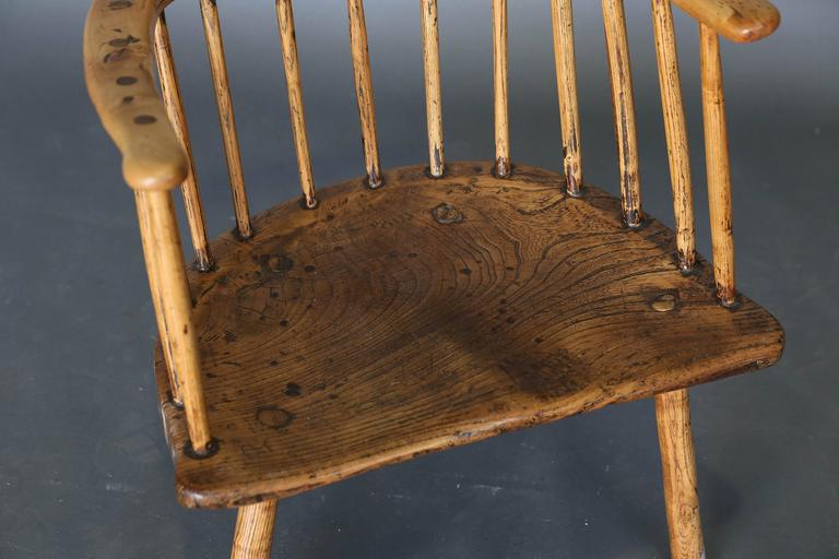 English Antique Primitive 18th Century Folk Art Stick Chair from Wales For  Sale - Antique Primitive 18th Century Folk Art Stick Chair From Wales For