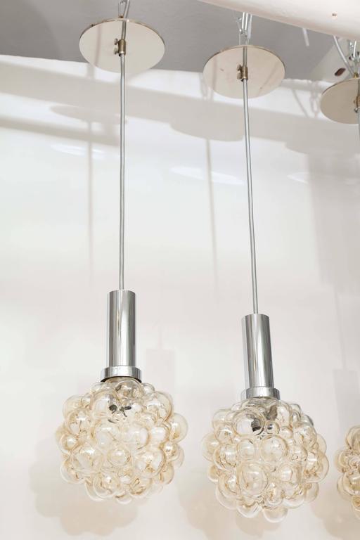 German Helena Tynell Bubble Glass Pendants For Sale