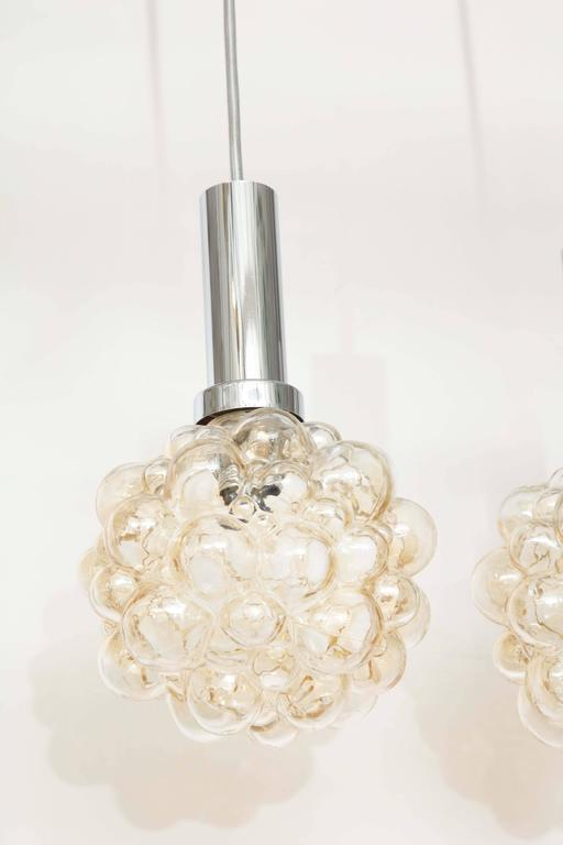 Helena Tynell Bubble Glass Pendants In Excellent Condition For Sale In New York, NY