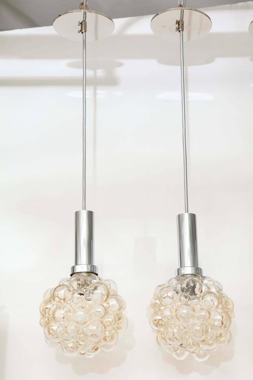 Helena Tynell Bubble Glass Pendants For Sale 1