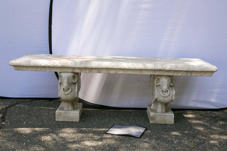 Carved Marble Bench For Sale At 1stdibs