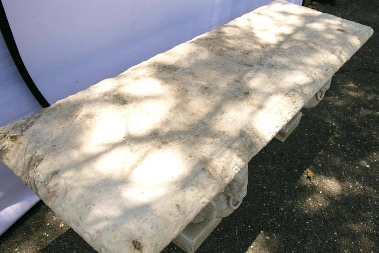 Carved Marble Bench 5