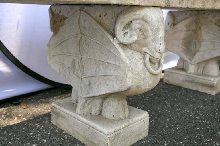 Carved Marble Bench 6