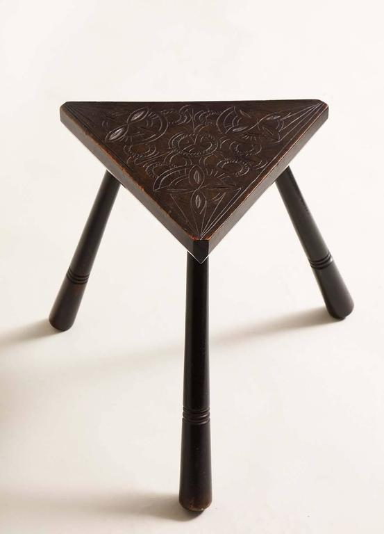 Irish Arts And Crafts Triangular Low Table At 1stdibs