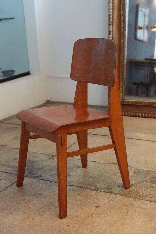 Set of jean prouv chaise en bois france 1940 for sale - Chaise jean prouve prix ...