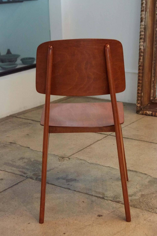 Chaise jean prouve prix maison design for Prix chaise bois