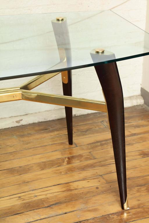 Sleek MidCentury Modern Dining Table in the Manner of Ico Parisi For Sale at 1stdibs