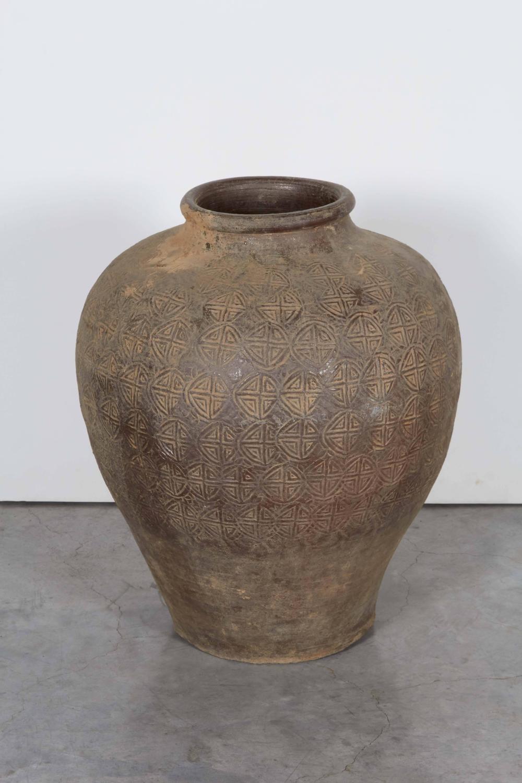 Antique Embossed Ceramic Jar For Sale At 1stdibs