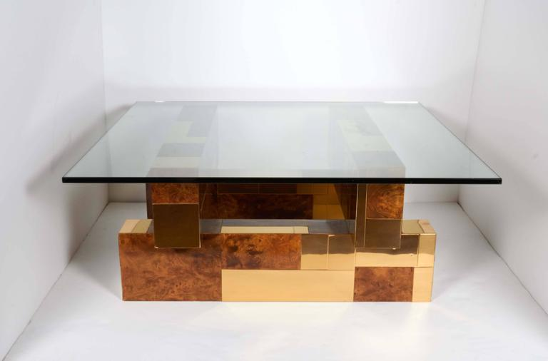 American Mid-Century Modern Cityscape Coffee Table by Paul Evans For Sale