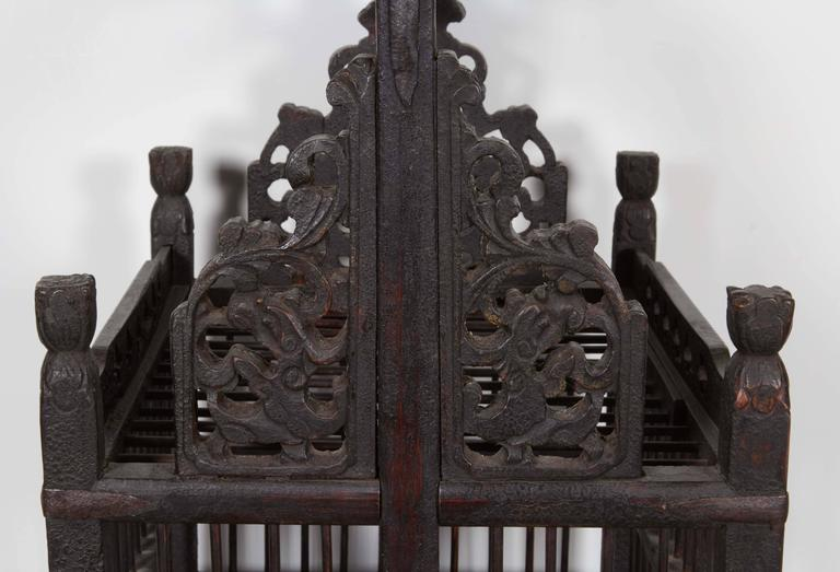 Wood 19th Century Chinese Birdcage For Sale