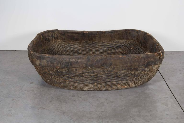 Chinese Large Handmade  Woven Basket For Sale