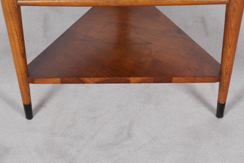 Lane Triangular Table In Walnut At 1stdibs