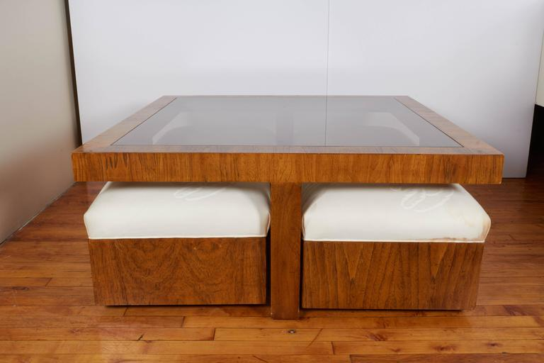 Drexel Consensus Collection Glass Top Cocktail Table With