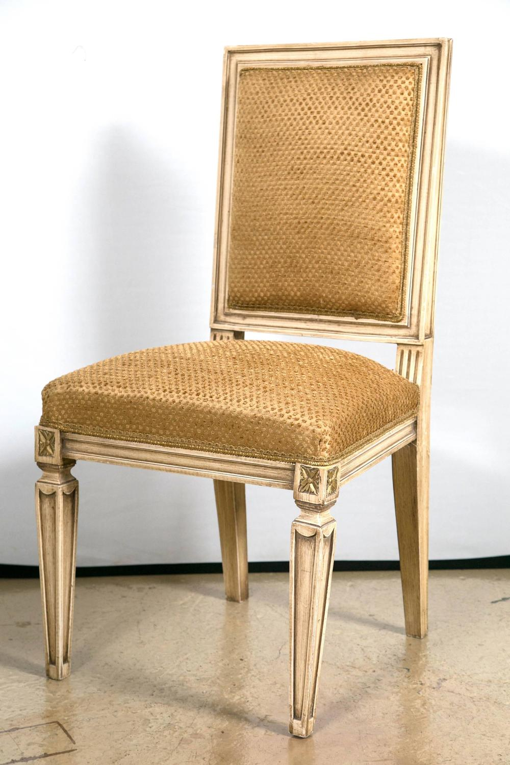 Fine Set Of 12 Dining Room Chairs In The Manner Of Maison