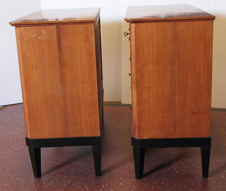 Pair of 19th Century German Biedermeier Commodes In Good Condition For Sale In Dallas, TX