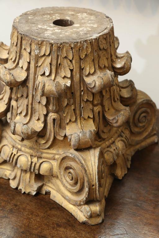 Dorische Säule aus vergoldetem Holz, 18. Jahrhundert 3