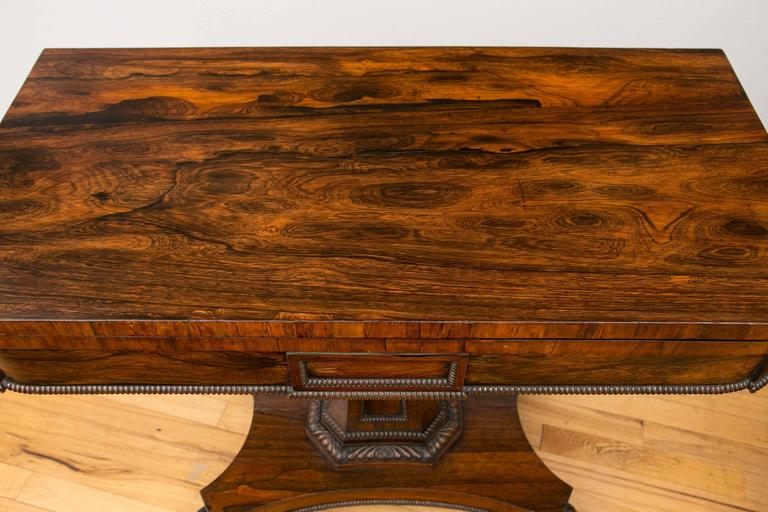 Pair of English Regency Period Rosewood Game Tables For Sale 5