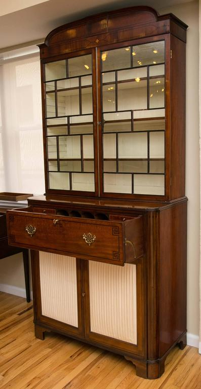 19th Century Secretaire Bookcase 2