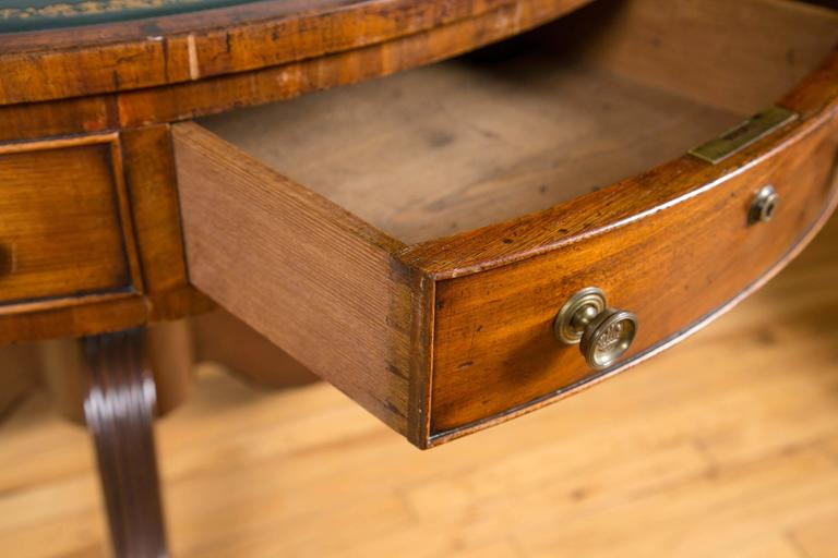 19th Century English Regency Period Mahogany Drum Library Table For Sale