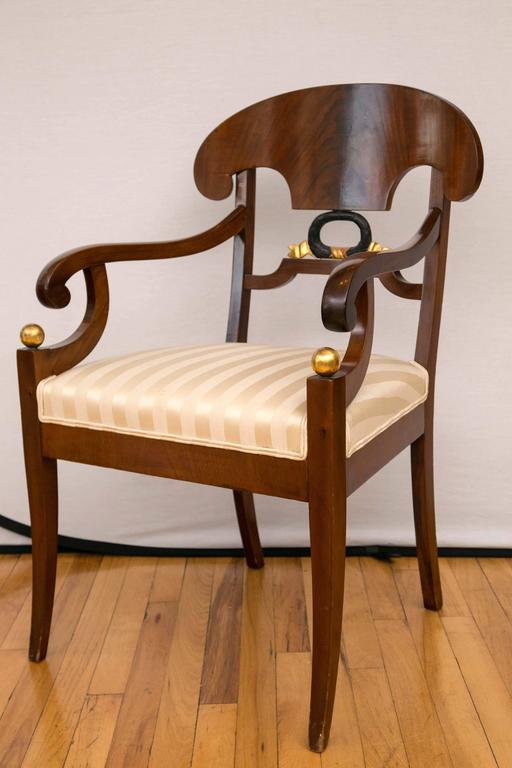 Pair of Swedish Biedermeier Armchairs In Good Condition For Sale In Mt Kisco, NY