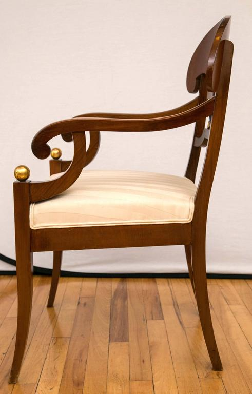 Pair of Swedish Biedermeier Armchairs For Sale 1