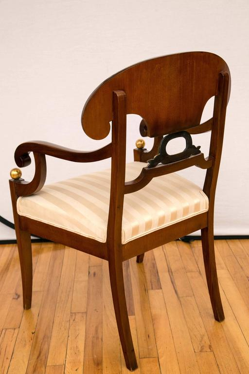 Pair of Swedish Biedermeier Armchairs For Sale 3