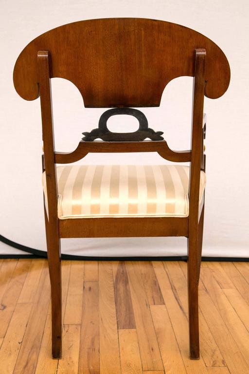 Pair of Swedish Biedermeier Armchairs For Sale 4