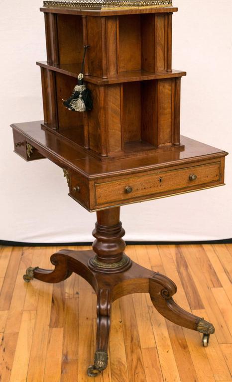 Regency Period Mahogany Bonheur du Jour Desk For Sale 1